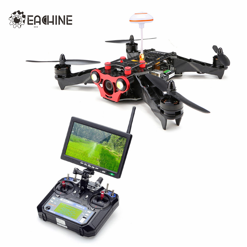Eachine Racer 250 FPV Drone w Eachine I6 2 4G 6CH Transmitter 7 Inch 32CH Monitor