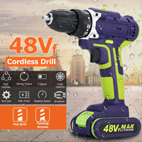 Professional 48Vf Cordless drill Daul Speed Adjustment LED lighting Large capacity battery 50Nm 16+1 torque 28pcs Accessories