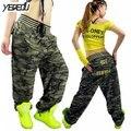 #0902 hip hop calças mulheres bolso grande calça casual calças de camuflagem do exército solto calças calças do punk streetwear baggy calças corredores