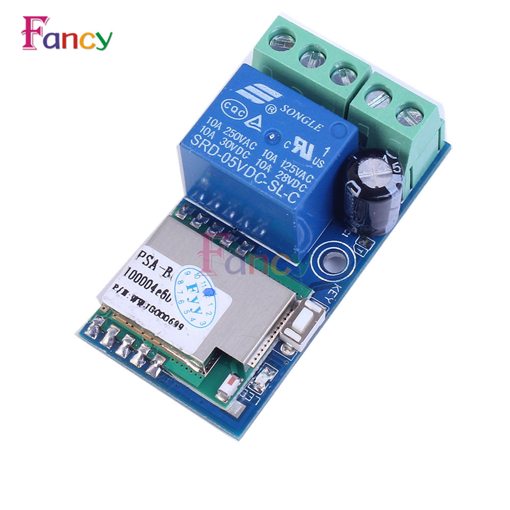 Low Power DC 12V Wifi Relais Module Wireless Relay Switch Module Jog Module fused 4 dpdt 5a power relay interface module g2r 2 12v dc relay