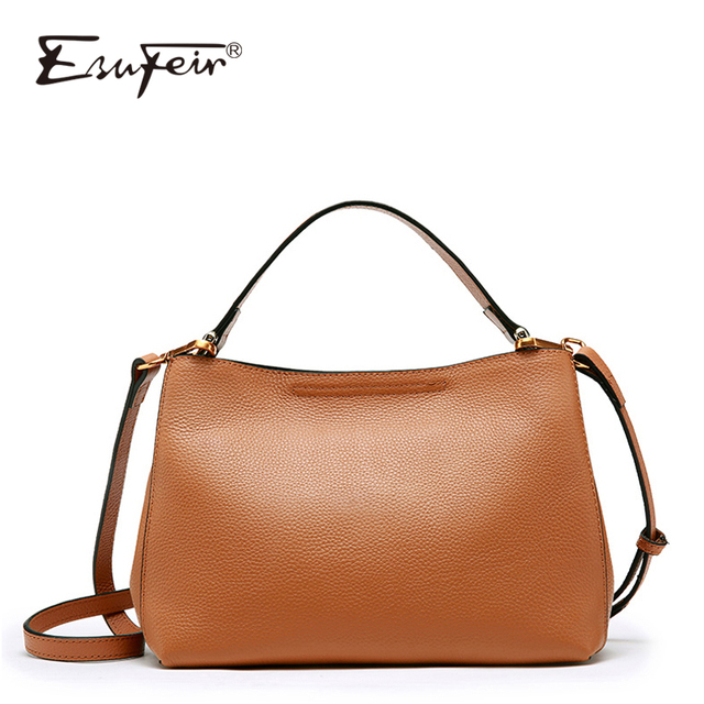 e379c3c768 ESUFEIR Genuine Leather Shoulder Bag for Women Cowhide Messenger Bag Brand Women  Handbags Fashion Crossbody Bag bolsa feminina