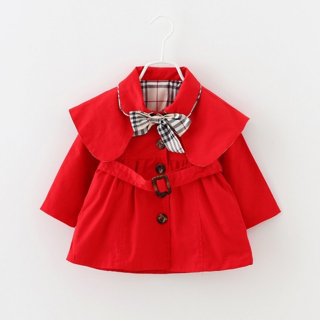 2016 Nueva Chaqueta de Abrigo Niña Primavera Otoño Niños Ocasional Outwear Cazadora Niños Ropa Infantil Ropa de Bebé Niña