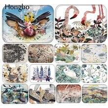 купить Hongbo Flamingo Bird Printed Door Mat Floor Carpet For Living Room Hallway Bathroom Entrance Door Mats Absorb Bedroom Kitchen по цене 215.81 рублей