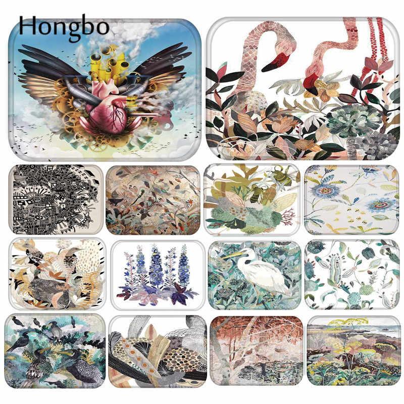 Hongbo Flamingo Pássaro Impresso Capacho Tapete Do Assoalho Para Sala de estar Corredor Banheiro Capachos Entrada Absorver Quarto Cozinha