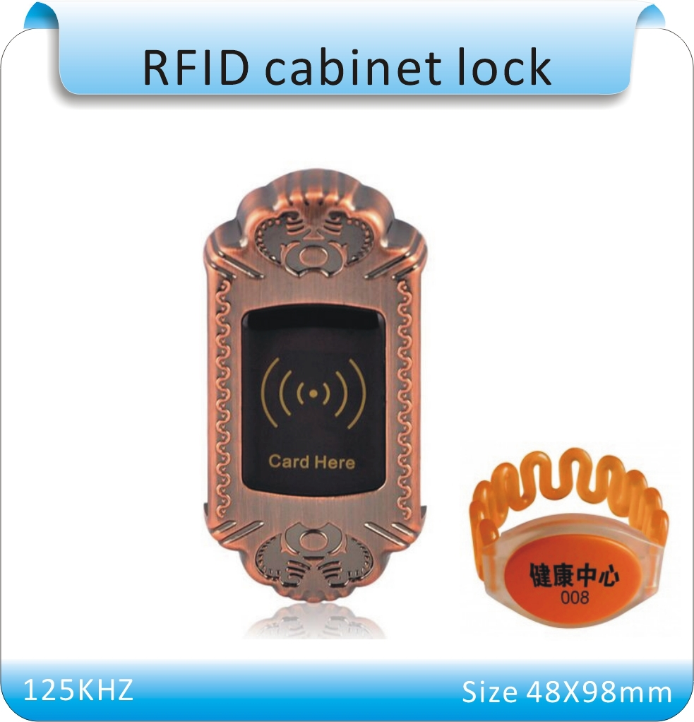 metal shell  natatorium 125KHZ RFID Electronic Cabinet Lock for lock+1 waterproof Hand tags japan king ttc 5 inch diagonal pliers mn 125 mnk 125 electronic repair jewelry processing tools for cutting metal pins plastic