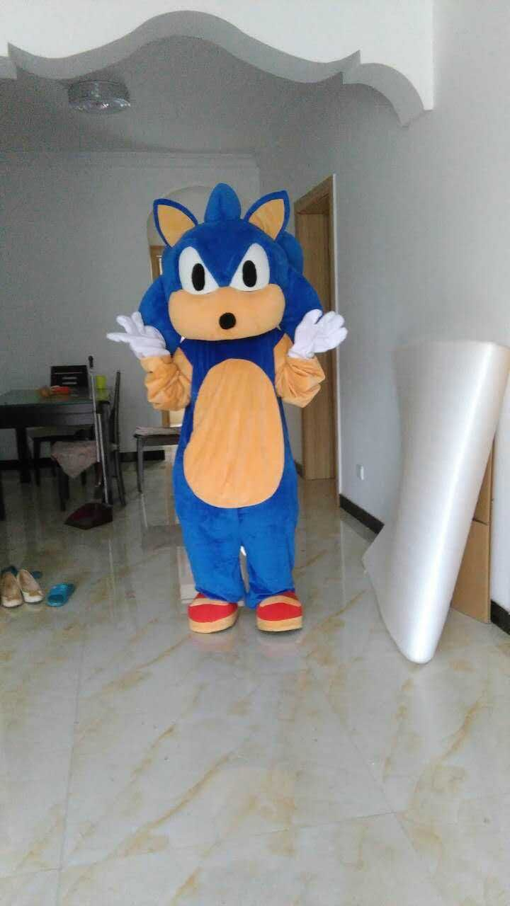2018 New Mascot Costumes Christmas Halloween Outfit Fancy Suit Free Shipping Sonic The Hedgehog