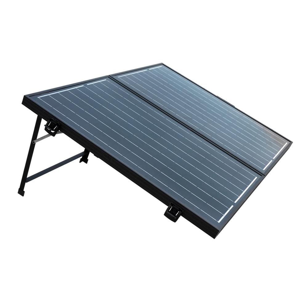 100W Mono Folding Foldable Solar Panel Complete Kit for 12V Battery Off Grid Solar Generators 50w 18v poly folding foldable solar panel for 12v battery car rv camping boat free shipping