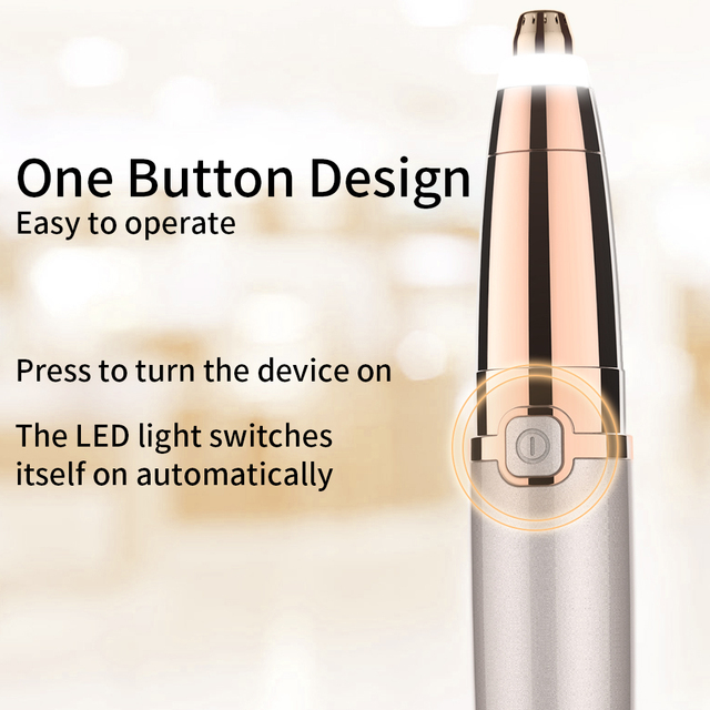 Electric Eyebrow Trimmer Epilator Painless Face Eye brow Hair Remover Pen Lipstick Shaver with LED Light Shaving Dropshipping 2