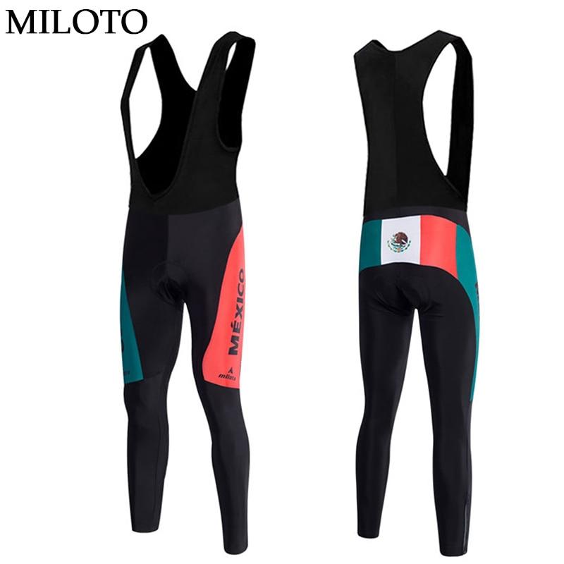 MEXICO Type MILOTO Men Cycling Pants Long Pants Trousers Outdoor Sports Cycling Bicycle Bike Long (Bib) padded mtb Pants