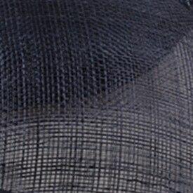 Элегантные шляпки из соломки синамей с вуалеткой хорошее Свадебные шляпы высокого качества черного цвета Клубная кепка очень хорошее 17 цветов MSF099 - Цвет: navy