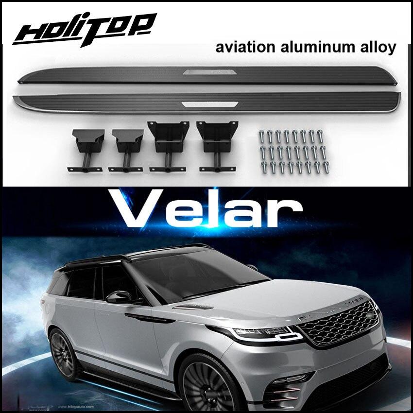 Nerf bar pedais do carro pé passo lado da placa para Range Rover Velar 2017 2018. qualidade de confiança do topo da fábrica, teve alta comentário