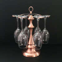 Classical Red Wine Glasses Holder Bar Hanging Upside Down Cup Goblets Display Rack hold up to 6 glasses