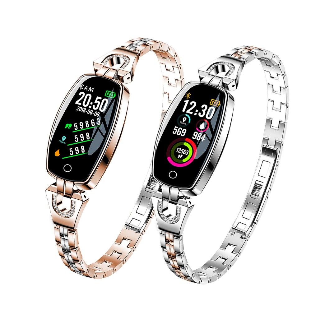OGEDA mode montre intelligente femmes étanche surveillance de la fréquence cardiaque Bluetooth pour Android IOS Fitness Bracelet montre intelligente fille