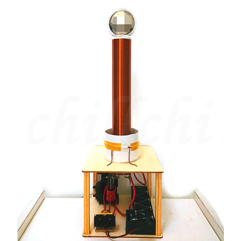 US $64 65 |Spark gap Tesla coil kit DIY technology to manufacture wireless  transmission lighting lamp arc spraying arc-in Integrated Circuits from