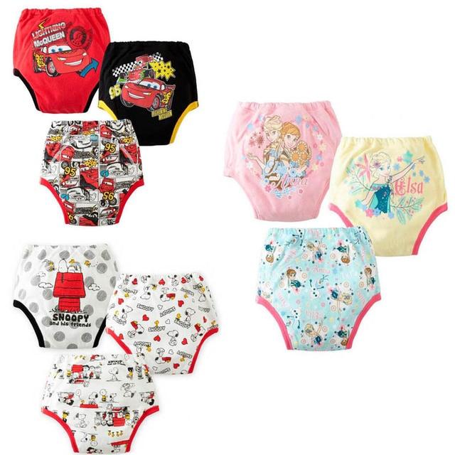 9 unids/lote impermeable de dibujos animados bebé entrenamiento pantalones de ropa interior de pañal de tela Panti chico natación Briefs venta al por mayor