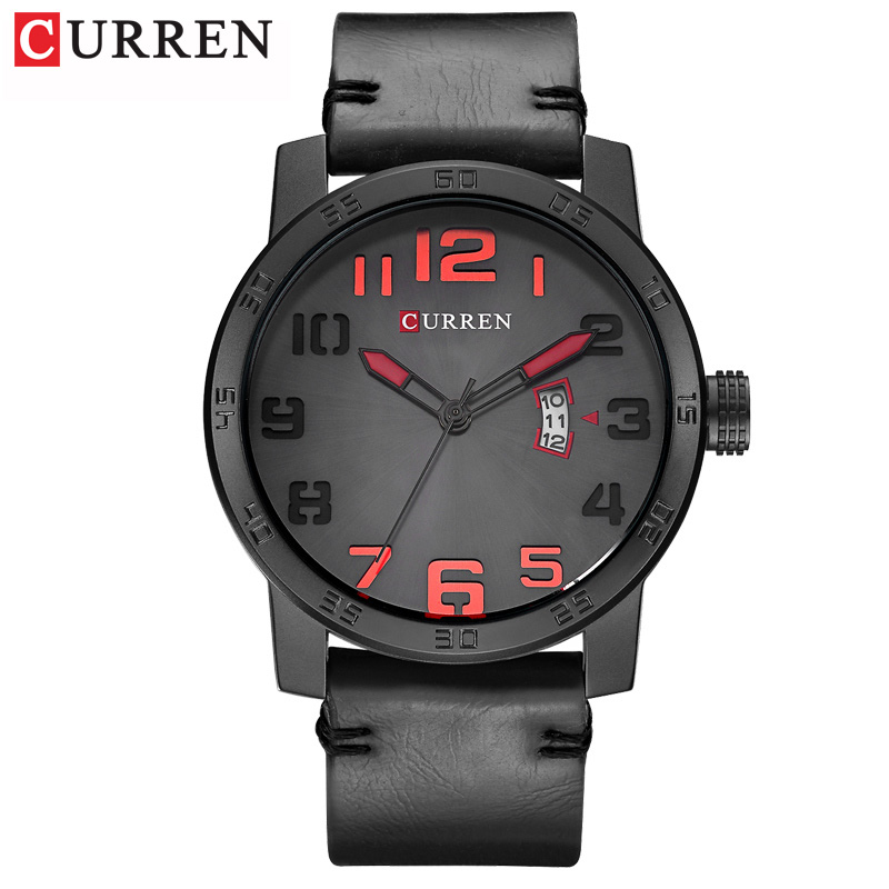New Men Watches CURREN Fashion Sports Wristwatch Casual Business Quartz Calendar Male Clock Leather Strap Relogio Masculino