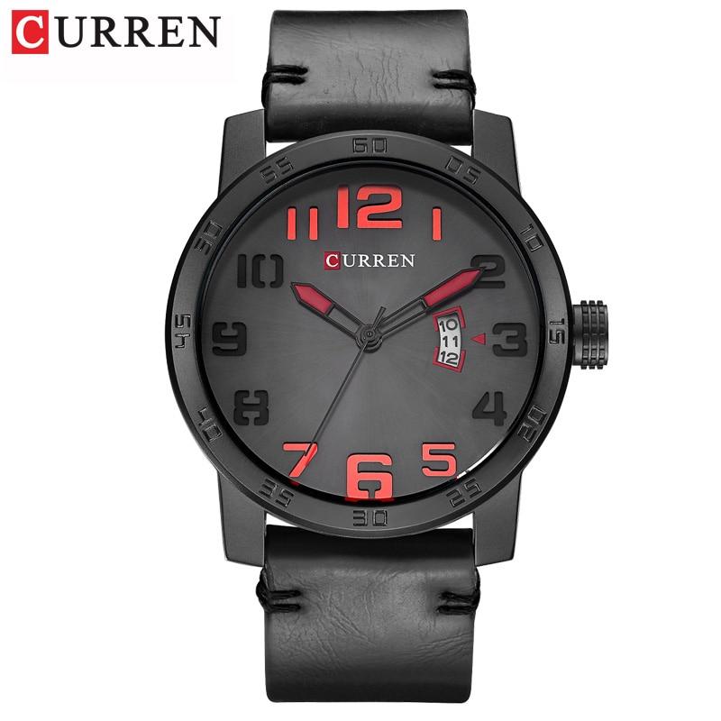New Men Watches CURREN Fashion Sports Wristwatch Casual Business Quartz Calendar Male Clock Leather Strap Relogio Masculino