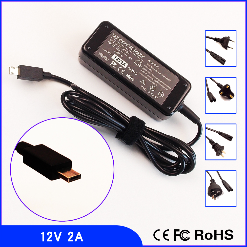 12V 2A Laptop Ac Adapter Charger POWER SUPPLY Cord For ASUS Chromebook C100 C201 C100P C100PA C201PA C100PA-DB02