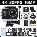 4 К 30FPS 16MP WIF Cam подводные Действий Камеры 2.0 Спорт HD DV Orignal 30 М водонепроницаемый yi 4 К go 4 pro hero 3 Камеры Действий Cam