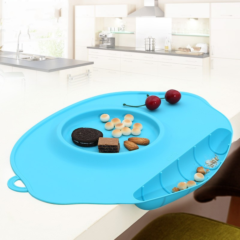 Solid Color Children S Silicone Plate Placemat Waterproof
