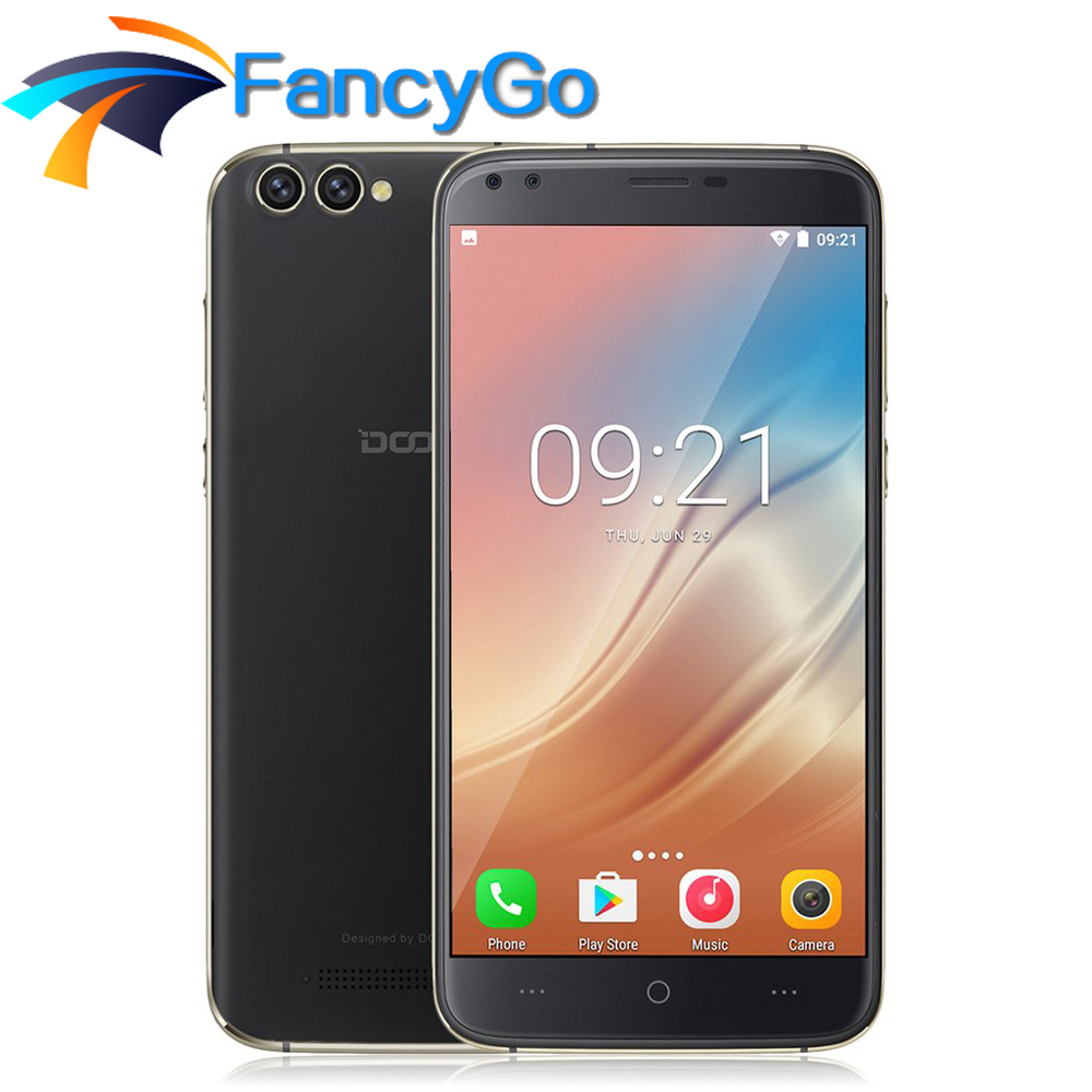 DOOGEE X30 Mobile phone Android 7.0 3360mAh 5.5 HD MTK6580A 2GB RAM 16GB ROM Quad Camera 2x8.0MP+2x5.0MP 3360mAh