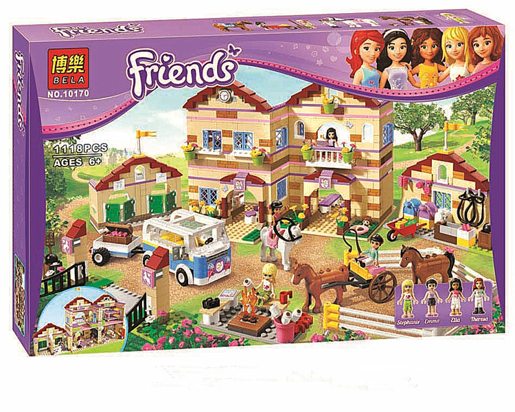ФОТО 2016 new Friends series the Summer Riding Camp Model Building Block Classic girl toys figures Compatible with Lepin 3185