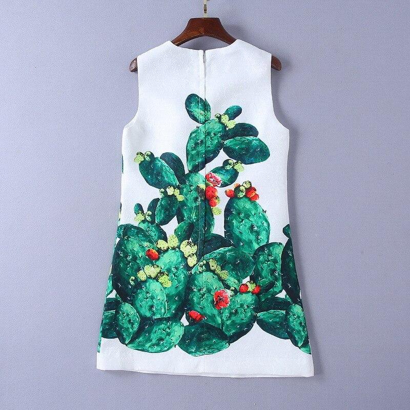 Main S115 Qualité Poils Femmes Papillon Impression De Robe D'été Boule Mode Plante Perlé Cactus 2019 Nouvelles Haute qg1Rqr