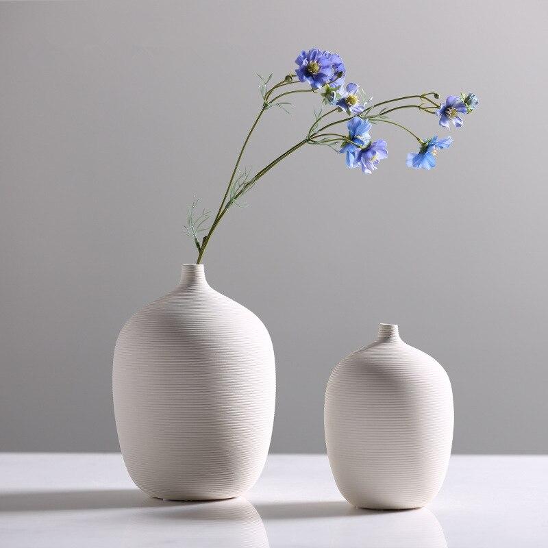 White Ceramic Bottle Vase