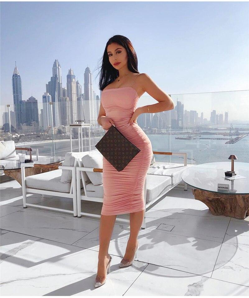 HTB1pY5SXxD1gK0jSZFKq6AJrVXam - NewAsia 2 Layers White Summer Dress Women 2020 Elegant Straps Ruched Maxi Dress Pink Long Dress Sexy Dresses Party Night Robe