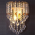 Mediterranean Modern Classical Golden Luxurious K9 Crystal Led E14*5 Wall Lamps For Aisle Stair Living Room Bedroom Bedside 1272