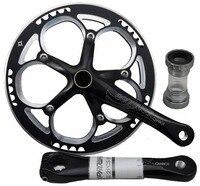 PROWHEEL Велосипедный Спорт велосипед шатуны один Чудик набор Кривошипные каретка 53 зубы