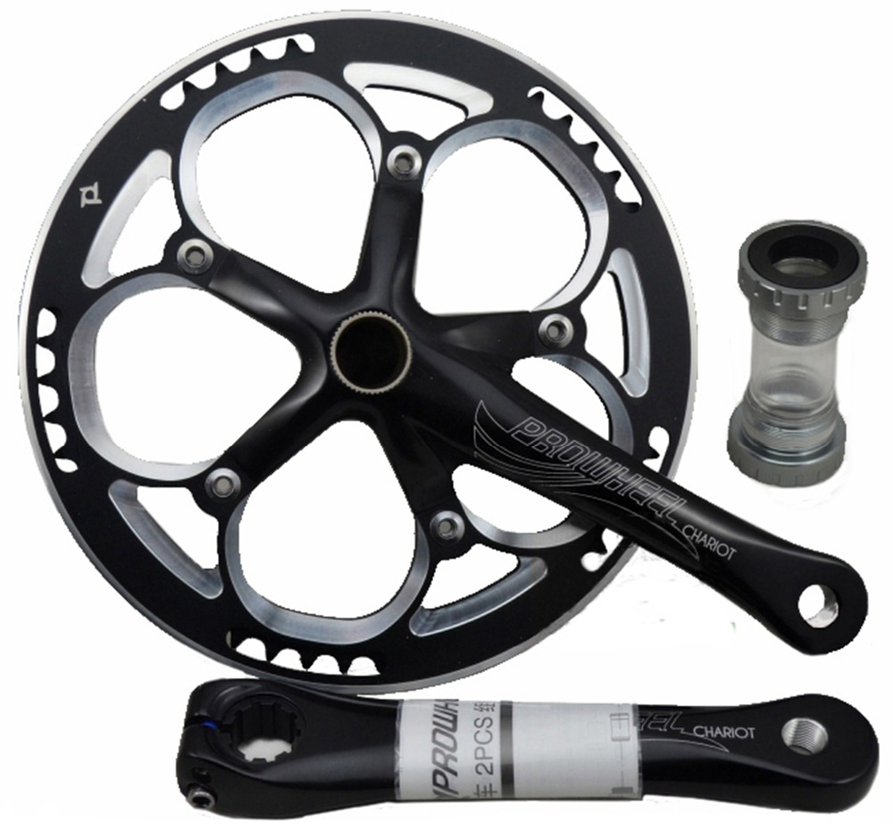 Prowheel Bicycle bike crankset Single Crank Set Cranksets Bottom Bracket 53 Teeth prowheel chariot 53t folding bike road bike crankset 170 crank bicycle chainwheel 170l 170mm for sp8 8s 9s speed