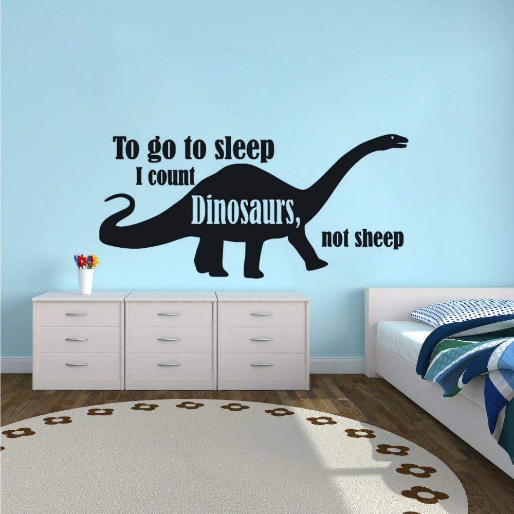 Sticker decal dinosaur dino jurassic wall children room kid decor brachiosaurus