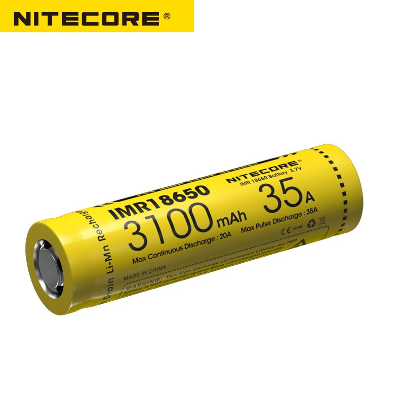 Nitecore IMR18650 3100mAh 35A 3.7v FLAT TOP Rechargeable Battery Nitecore IMR18650 3100mAh 35A 3.7v FLAT TOP Rechargeable Battery