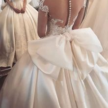 kejiadian cap Sleeves Satin Wedding Dress Ball gown
