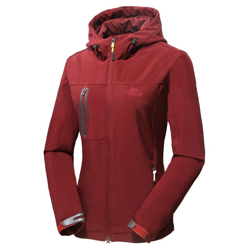 ФОТО Women soft shell hiking jacket Cross country waterproof elasticity jacket windproof outdoor clothing women Mountaineering jacket