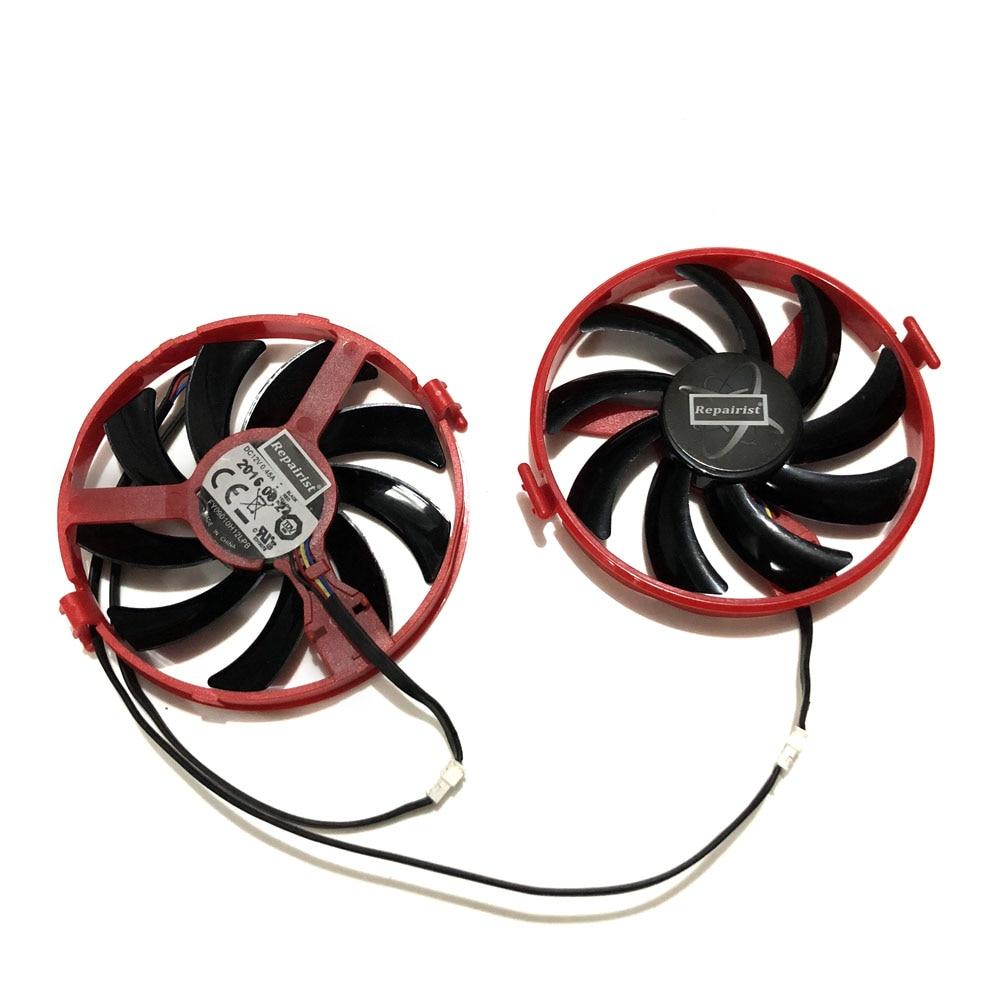 XFX R9 380X R7 370 GPU enfriador VGA FY09010H12LPB ventilador para Radeon R9-380X R7 370 Grahics tarjeta como reemplazo