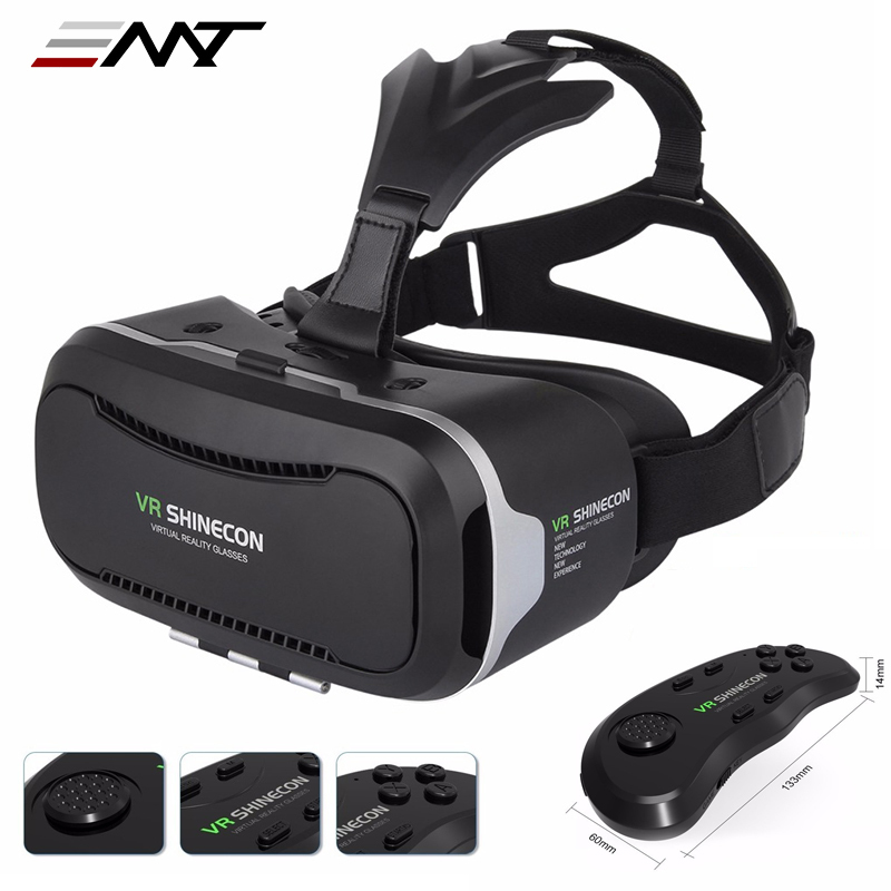 New VR Shinecon II 2.0 Helmet Cardboard Virtual Reality Glasses Mobile Phone 3D Video Movie for 4.7-6.0