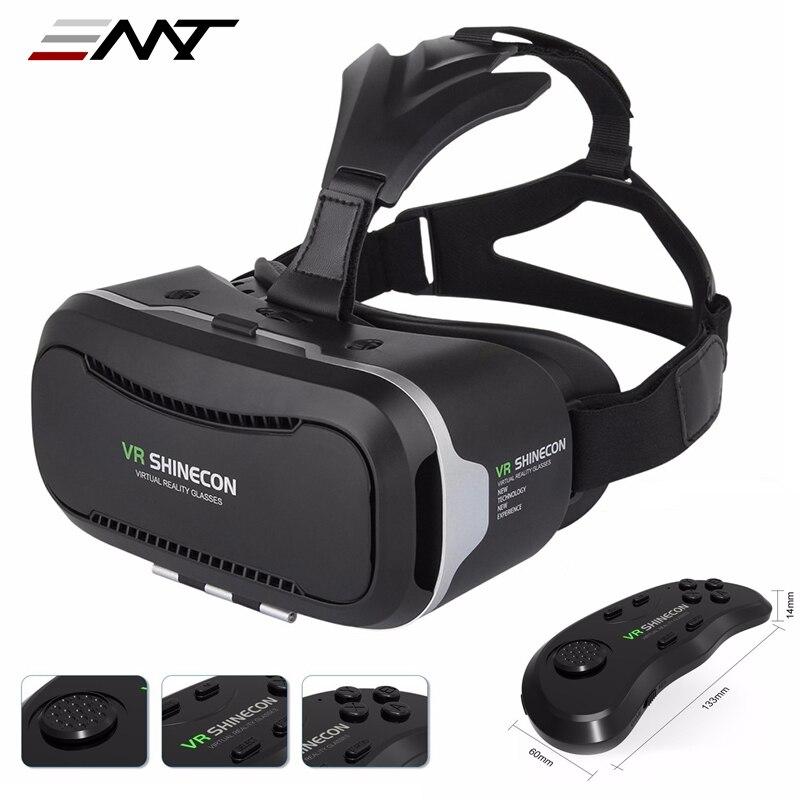 """New <font><b>VR</b></font> <font><b>Shinecon</b></font> II 2.0 Helmet Cardboard <font><b>Virtual</b></font> <font><b>Reality</b></font> <font><b>Glasses</b></font> Mobile Phone 3D <font><b>Video</b></font> Movie for 4.7-6.0"""" Smartphone with Gamepad"""