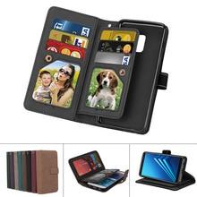 Luxury PU Leather Wallet Plain Matte Flip Case For iPhone X 5 5S SE 6 6s 7 8 Plus Phone Cases With 9 Card Slots For iPhoneX 10 стоимость