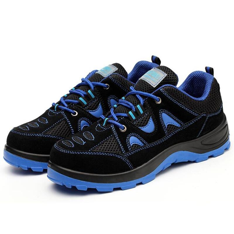 Não Tênis Plataforma Grande Sapato Da Operário Capas Segurança Botas slip Calçados De Biqueira Tamanho Trabalho Homens Construção Aço Confortável FR17vxwWq