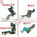 Para iphone 6 4.7 6 plus 5.5 jack de áudio + carregador doca de carregamento porto flex cable para apple iphone 6 s 6 s plus peças branco/cinza
