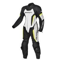 KERAKOLL One piece Motorcycle Racing Suit Genuine Leather Cowhide Motocross Jacket Pants with Protectors Knee Sliders