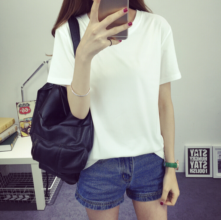 ulzzang summer tops 2016 white t shirt korean style t t shirt women tops vestiti femme harajuku. Black Bedroom Furniture Sets. Home Design Ideas
