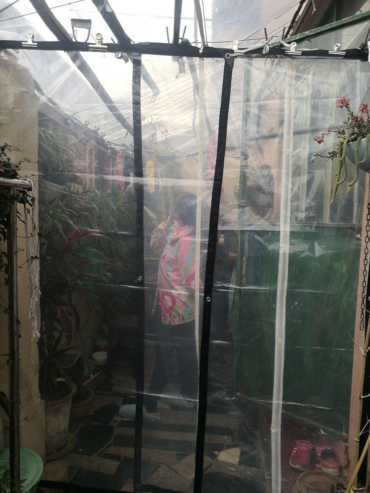 Couverture extérieure transparente de style mince 5 m X 3 m 60%, bâche imperméable, bâche de pluie translucide. matière plastique de serre.