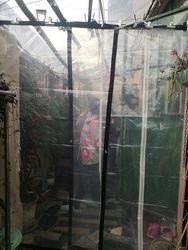 Stile sottile 5 m X 3 m 60% trasparente della copertura esterna, impermeabile tarp, transluce pioggia telone. serra di Plastica materiale.