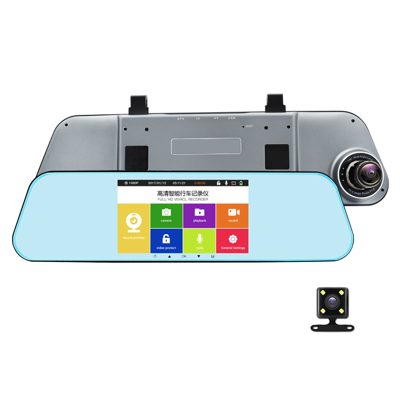 NEW car HD DVR 1080P 5 IPS Touch Screen Dual LES camera Car Dash Camera With Parking ADAS Night Vision