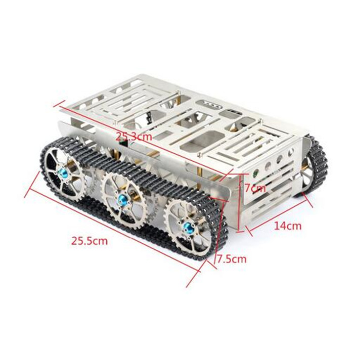 Chassis With Two Engine 2wd Caterpillar Caterpillar Tracked All Terrain Vehicle For DIY Mobile Platform Manipulator