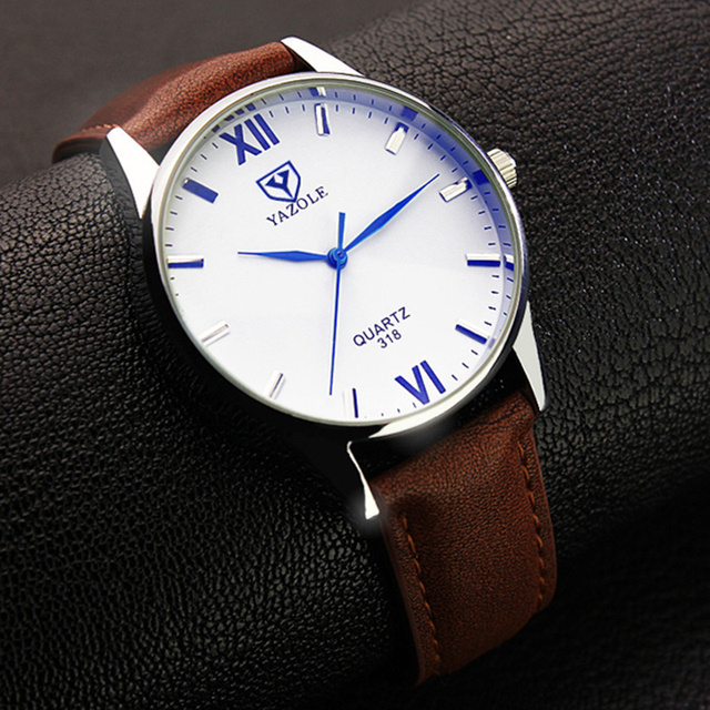 2018 Yazole Watch Simple Hook Needle Business Watch Roman Scale Male Soft Leather Watch Men's Quartz Watches Relogio Masculino