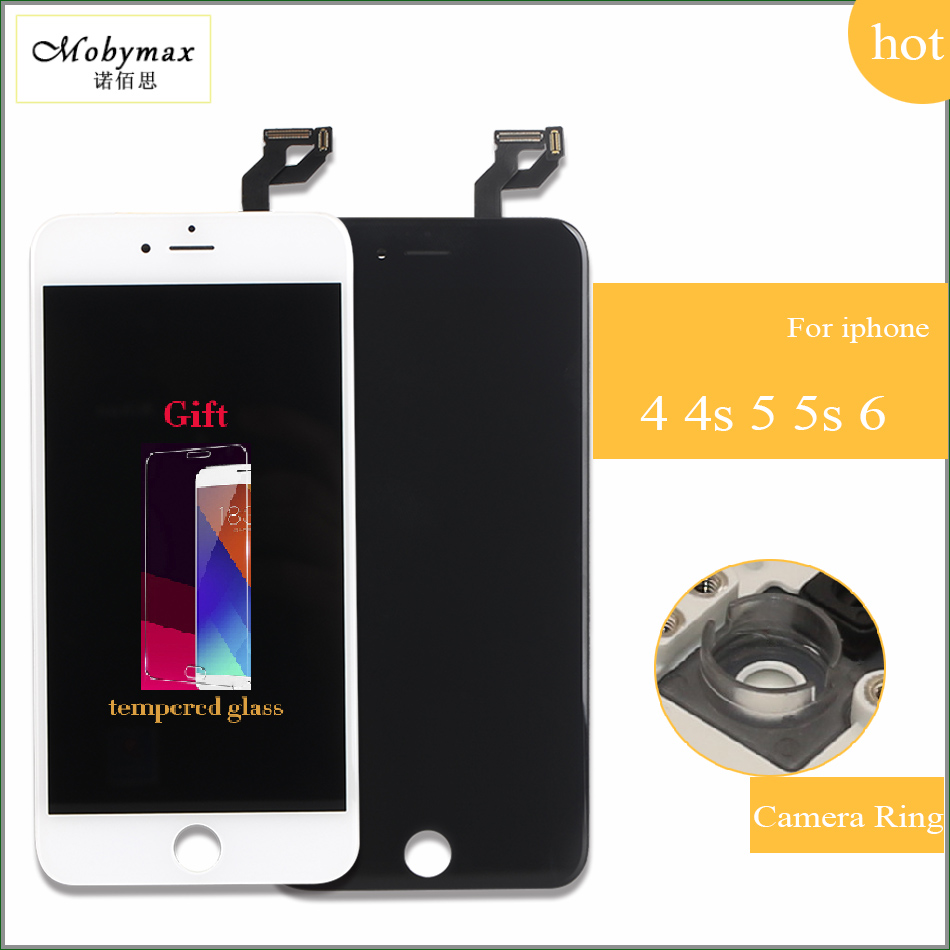 Mobymax Promotion All Test Work LCD Touch Screen For IPhone 4 4s 5 5s 6 Display